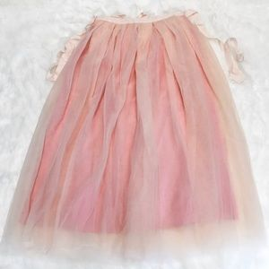 J. Crew Tulle Ball Skirt Pale Buff Pink Holiday